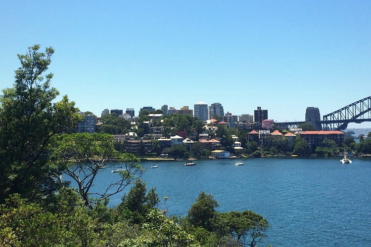 Balls Head Reserve overlooking Berrys Bay and McMahons Point