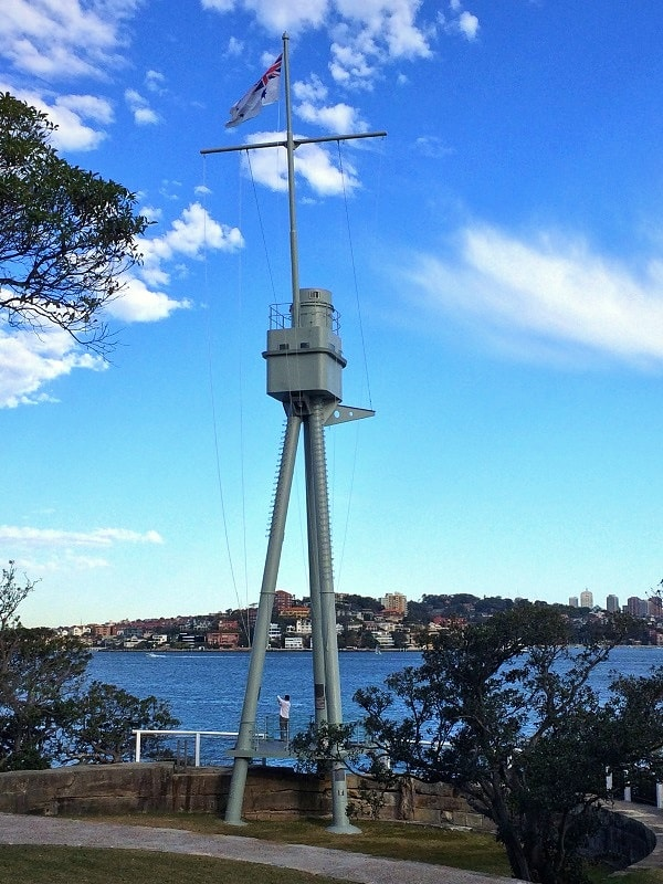 HMAS Sydney foremast at Bradleys Head