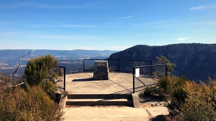 Cahill's Lookout near Katoomba