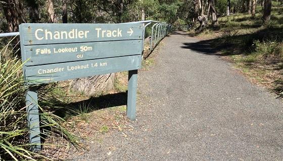 Chandler Falls Track sign