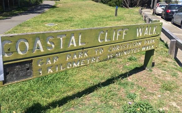 Coastal Cliff Walk signpost