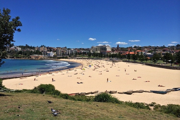 Coogee Beach as seen from the north
