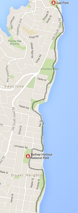 Federation Cliff Walk map and route