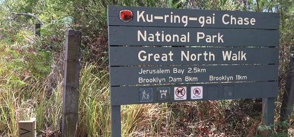 Starting point of the Jerusalem Bay walking track
