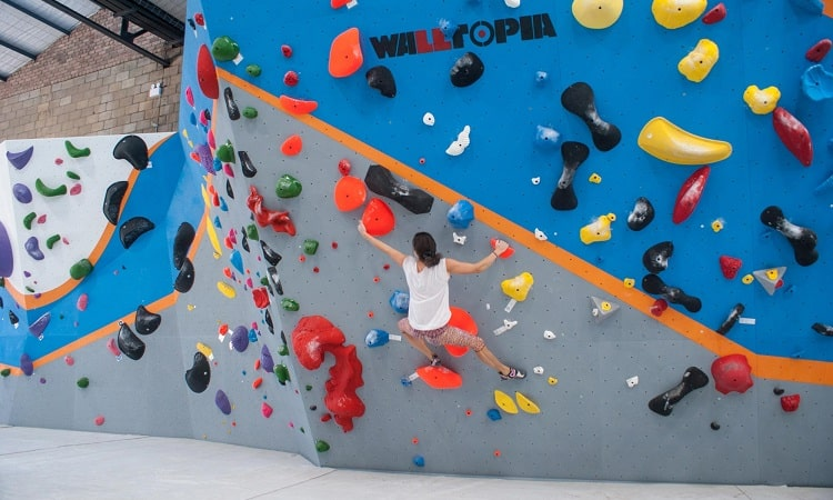 Go indoor rock climbing and bouldering when it rains