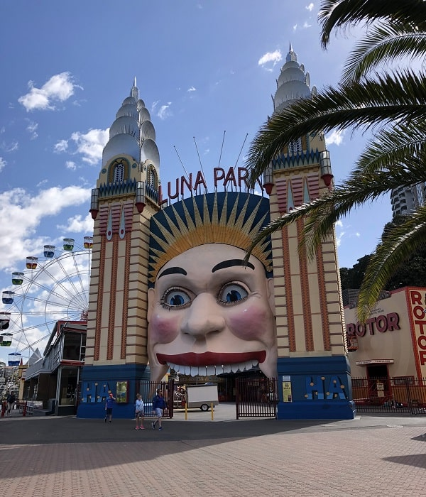 Entrance to Luna Park in Milsons Point