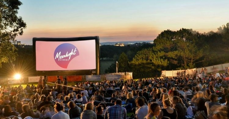 Moonlight outdoor cinema