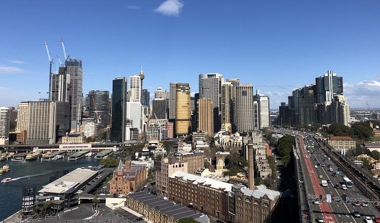 Sydney CBD views from the Pylon Lookout