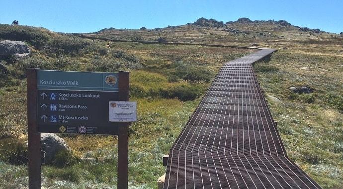 Thredbo to Mount Kosciuszko walk