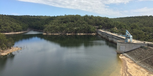 Warragamba Dam as seens from the visitor centre
