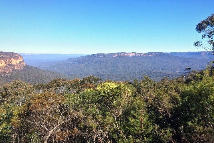 Jamison Lookout in Wentworth Falls