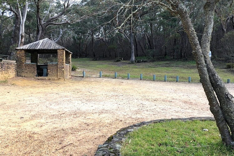 Picnic area at Govetts Leap Lookout