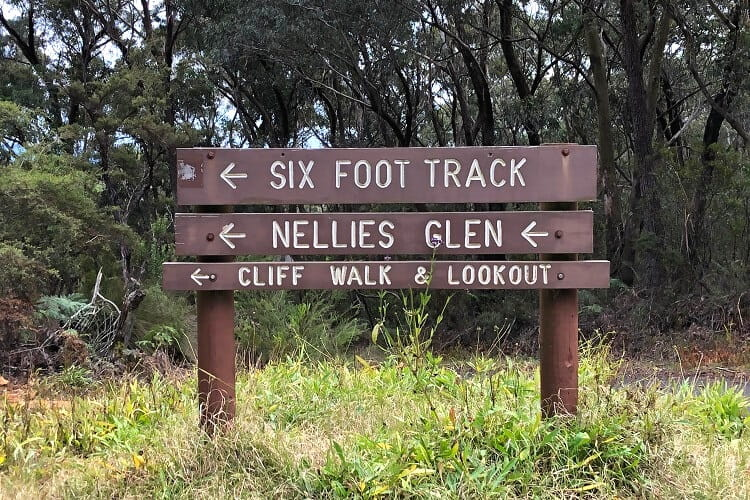 Starting point of the Six Foot Track