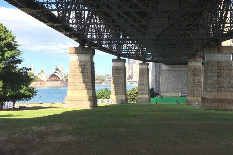 Enjoy a picnic in Bradfield Park in Milsons Point