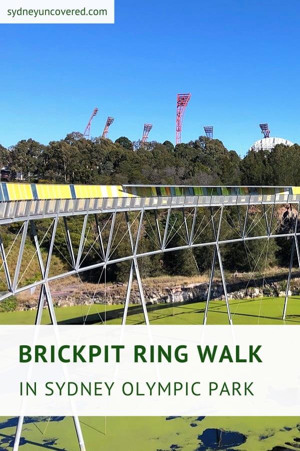 Brickpit Ring Walk in Sydney Olympic Park