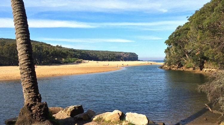 Wattamolla beach, waterfall and lagoon