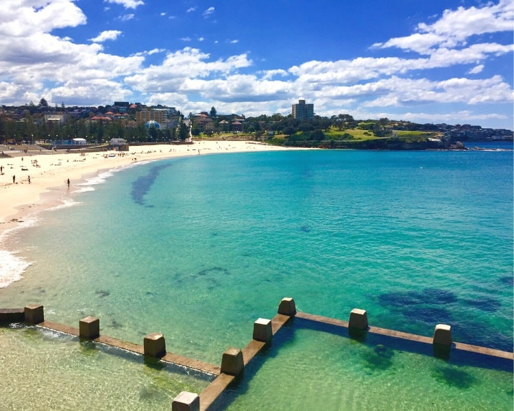 Coogee Beach as seen from the south