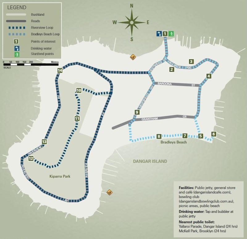 Map of Dangar Island
