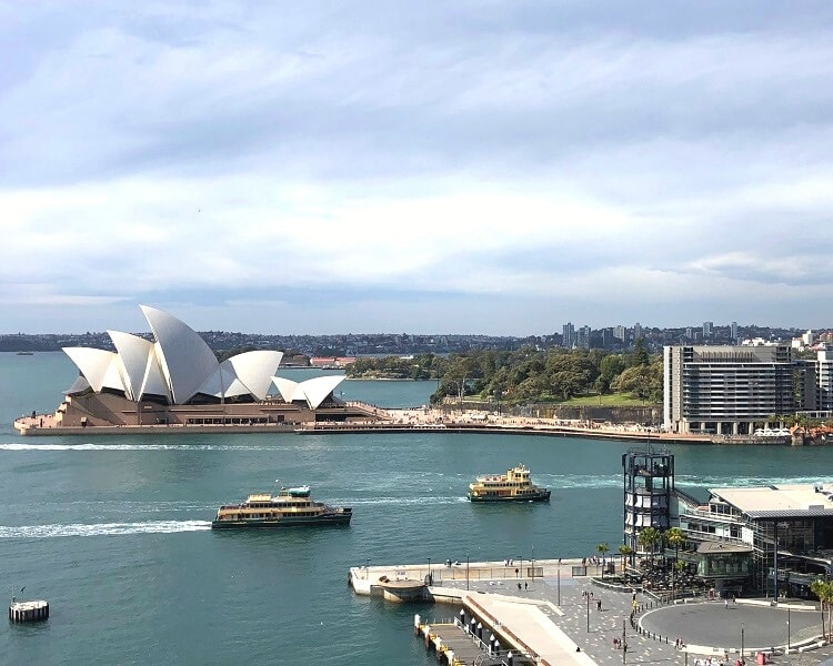 Views from the Sydney Harbour Bridge walkway