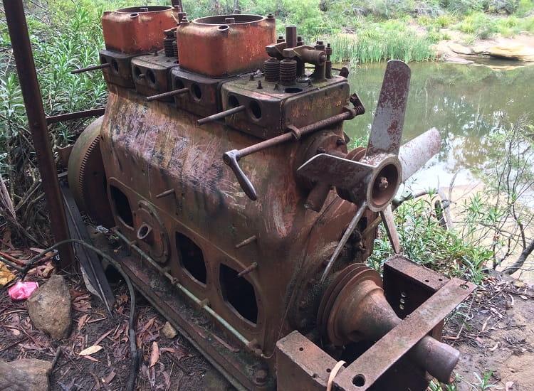 Old engine at Mermaid Pools