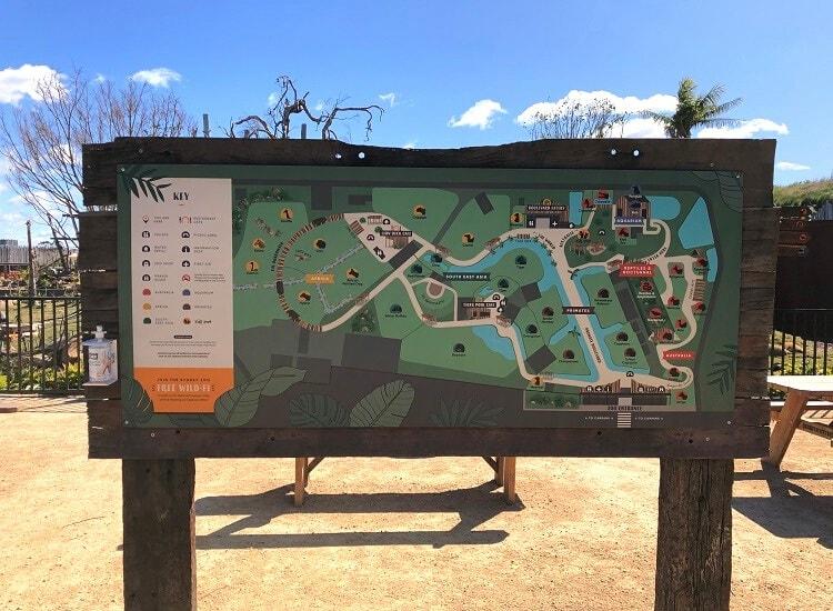 Map of Sydney Zoo