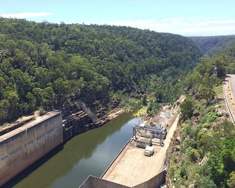 North side of Warragamba Dam