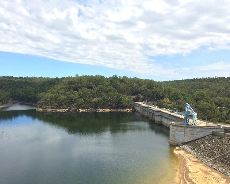 Warragamba Dam as seen from the Visitor Centre