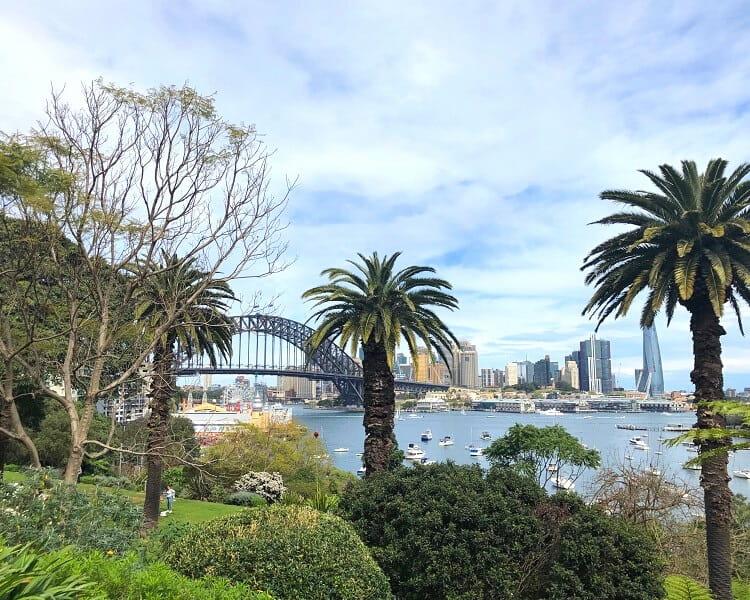Wendy's Secret Garden facing Sydney Harbour
