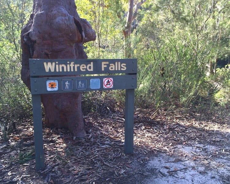 Winifred Falls signpost