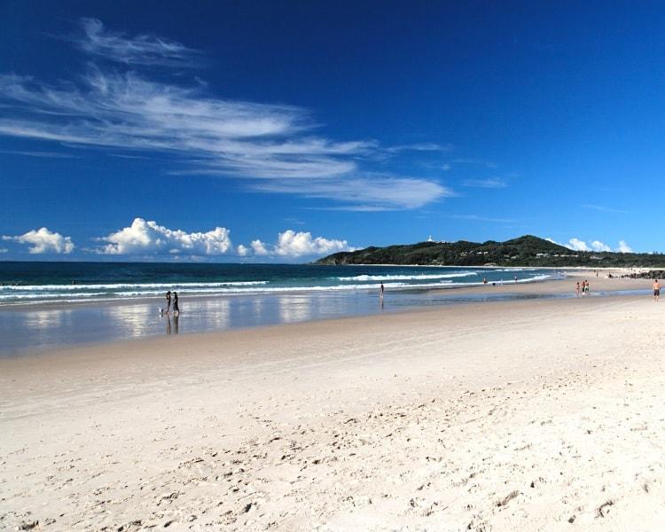 Belongil Beach in Byron Bay