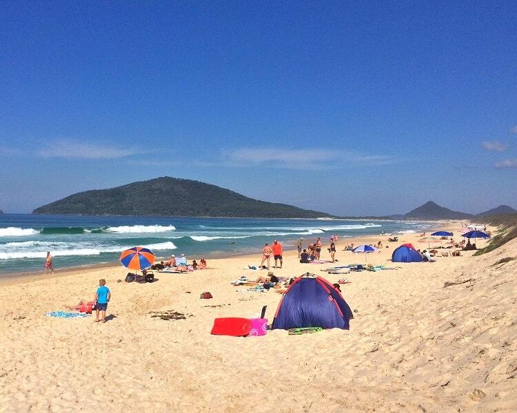 Bennetts Beach on a sunny day