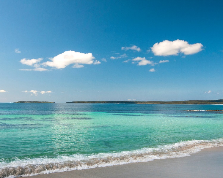 Jervis Bay in the Shoalhaven region