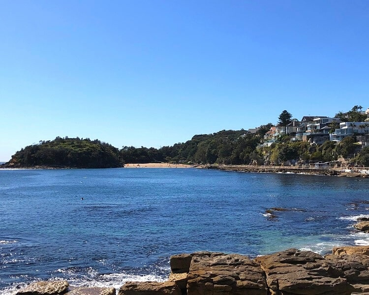 Shelly Beach as seen from Marine Parade