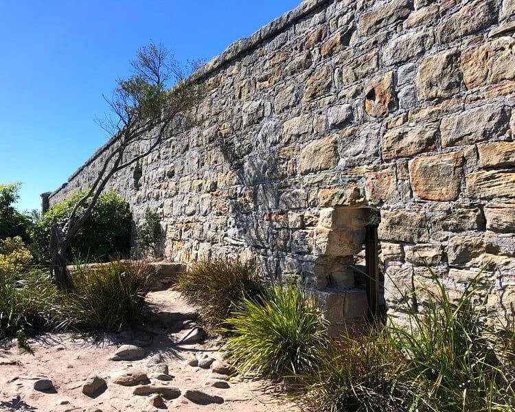 Sandstone wall on North Head