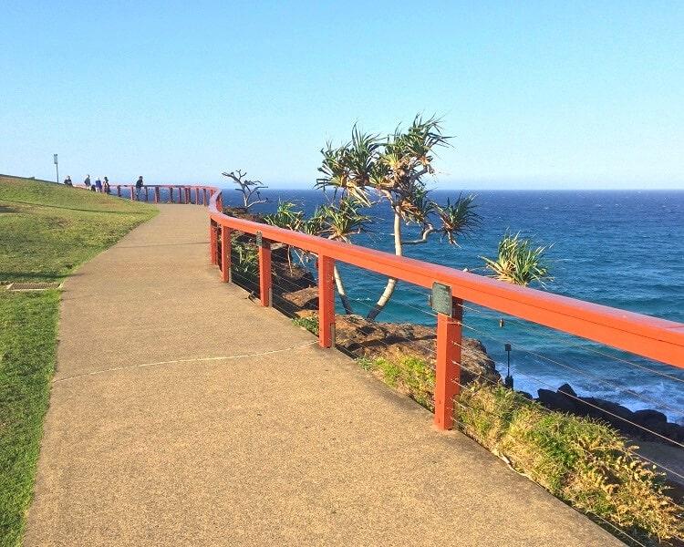 Coastal walking path in Point Danger