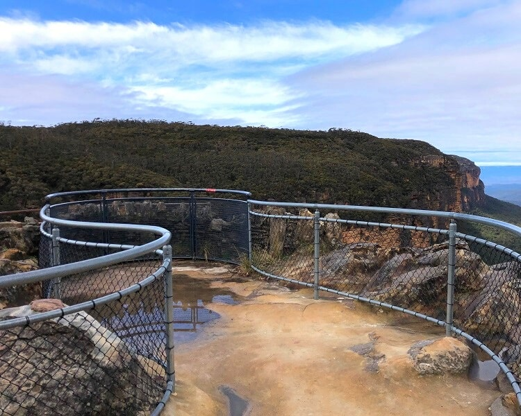 Viewing platform at the Princes Rock Lookout