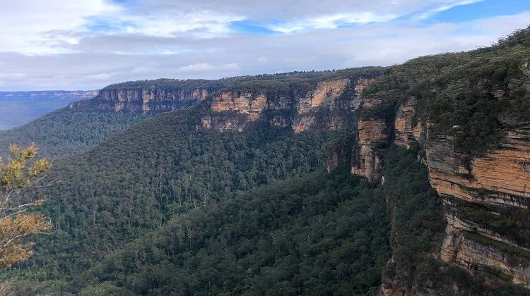 Rocket Point Lookout walking track in Wentworth Falls