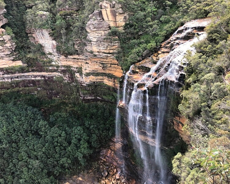 Views of Wentworth Falls from Rocket Point Lookout