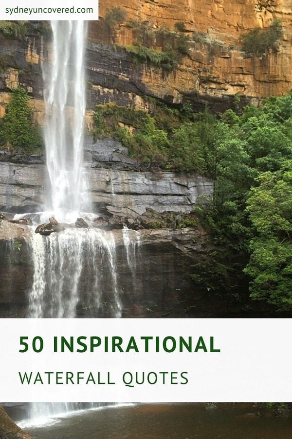 50 Inspirational waterfall quotes