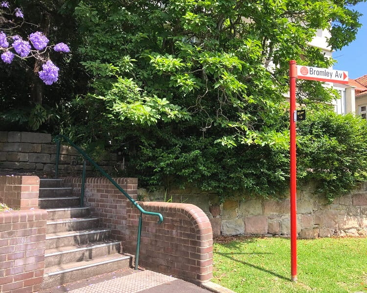 Turning point in the Cremorne Point Walk
