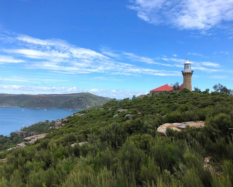 Barrenjoey Lighthouse on top of Barrenjoey Headland