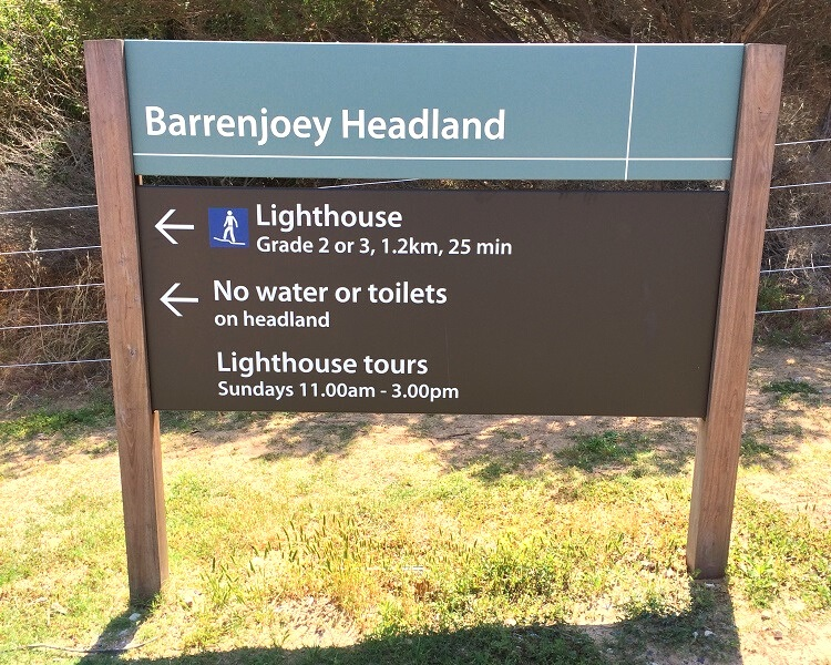 Signpost for the Barrenjoey Lighthouse Walk