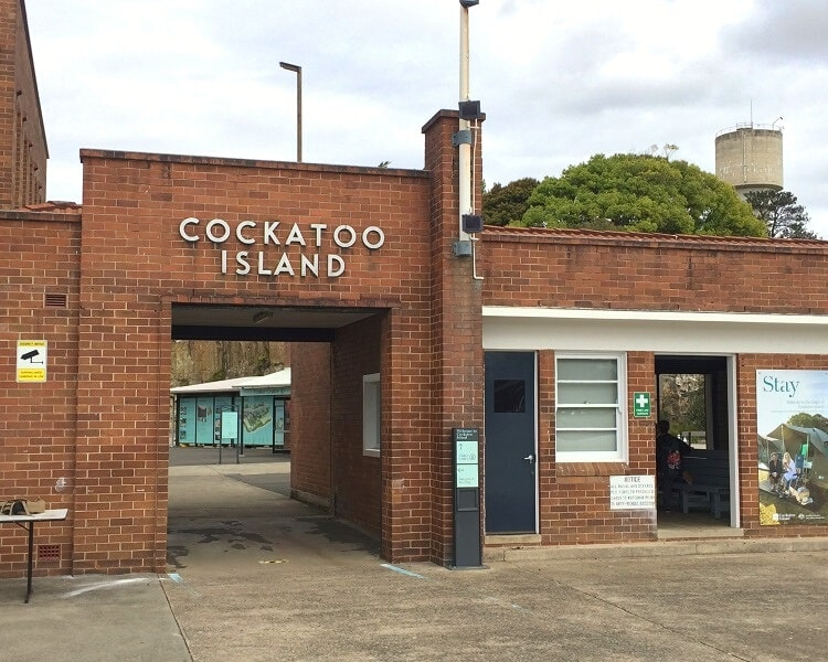 Main entrance to Cockatoo Island