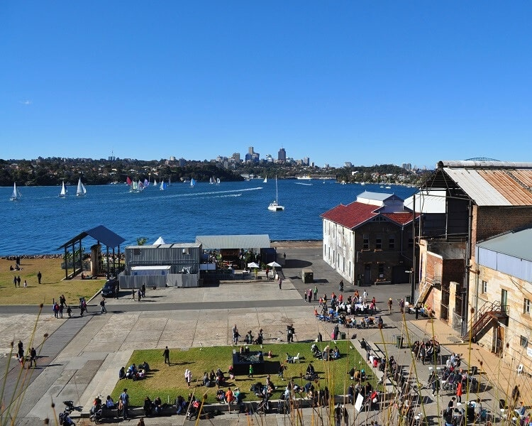 Views from the clifftop walk on Cockatoo Island