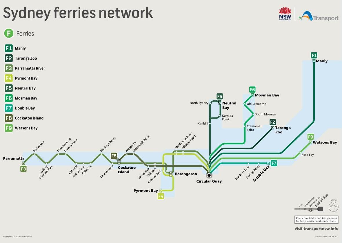 Sydney Ferries network