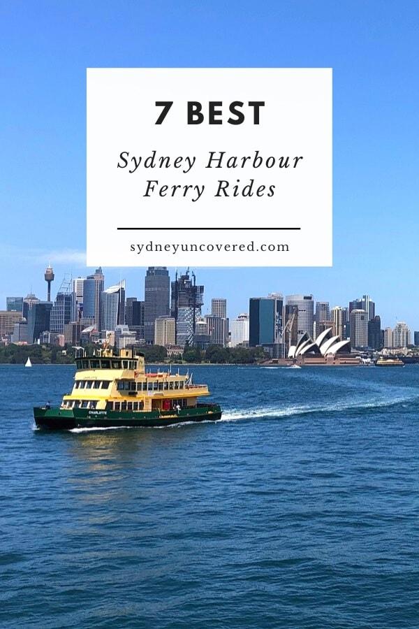Sydney Harbour ferry rides
