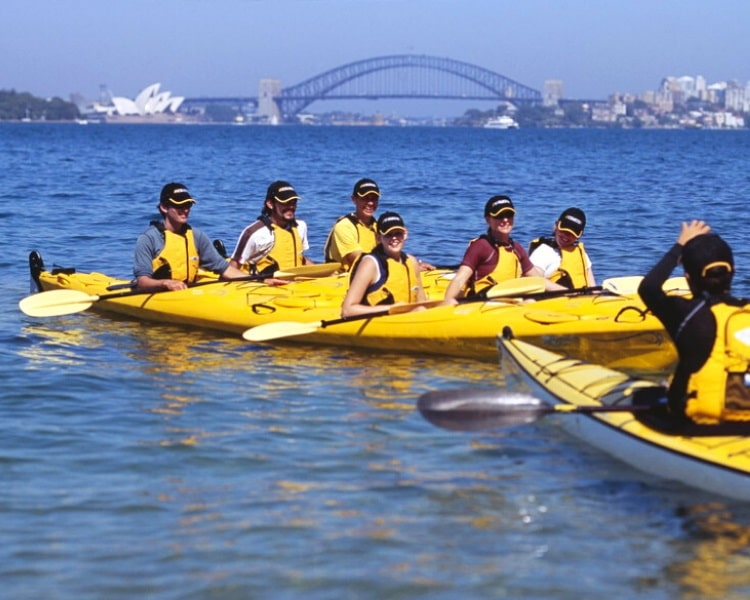 Kayaking in Sydney Harbour