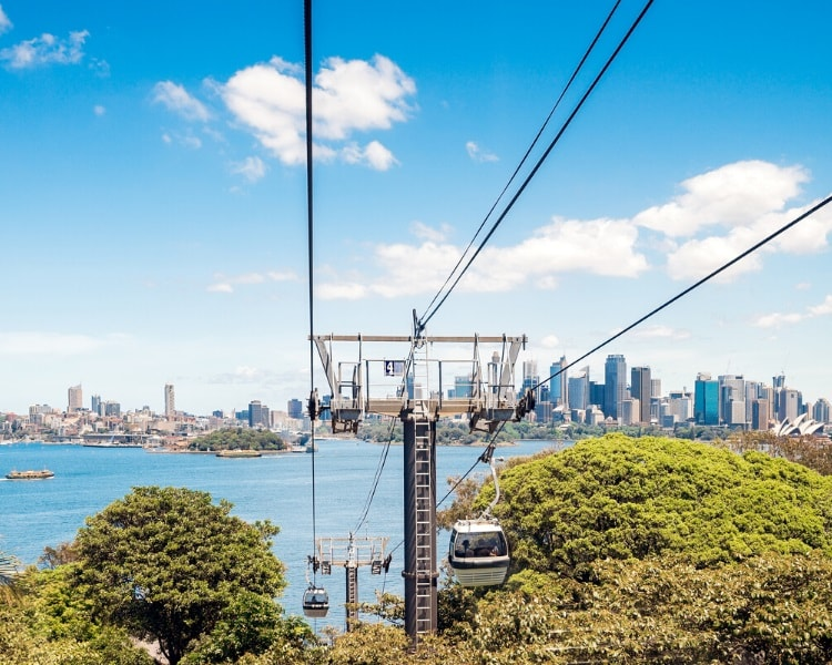 Taronga Zoo cable car from ferry wharf