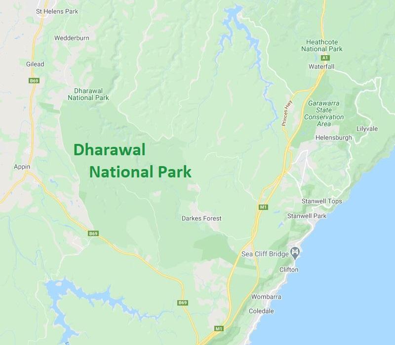 Map of Dharawal National Park