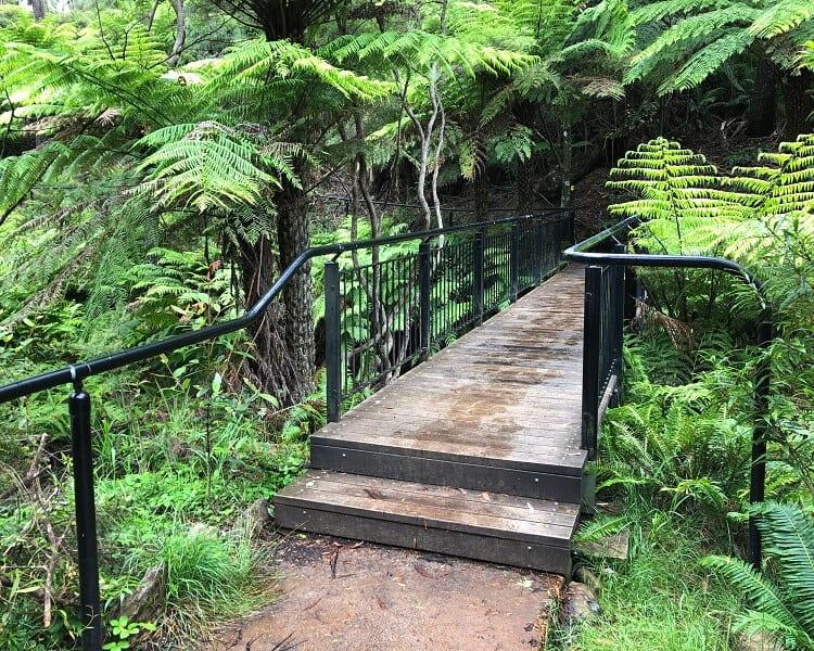 Footbridge crossing Kedumba River at Katoomba Cascades